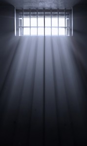 sun rays in dark prison cell