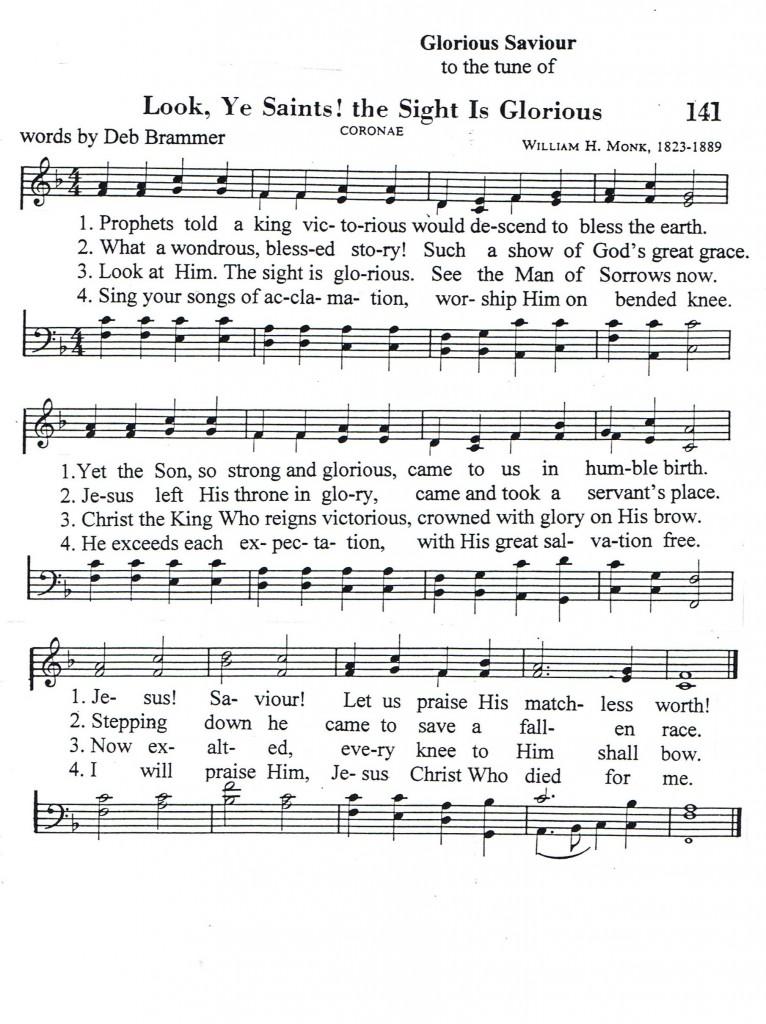 Glorious Savior Song